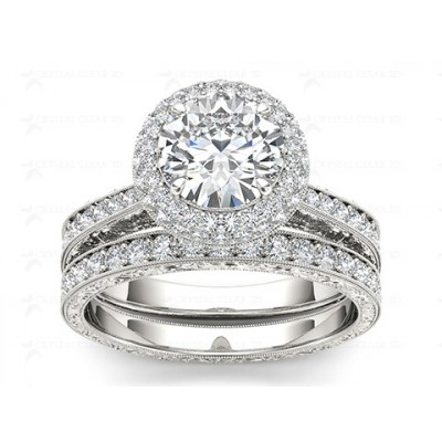 KATHRYN DIAMOND SOLITAIRE RING in Cubic Zirconia & 18K Gold
