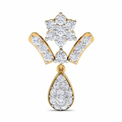 SHERON DIAMOND DROPS EARRINGS in 18K Gold