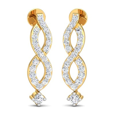 LILA DIAMOND DROPS EARRINGS in 18K Gold