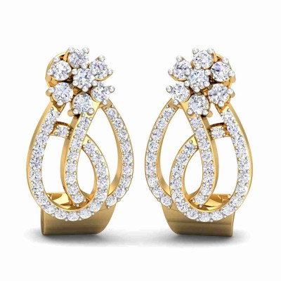 MERLYN DIAMOND STUDS EARRINGS in 18K Gold