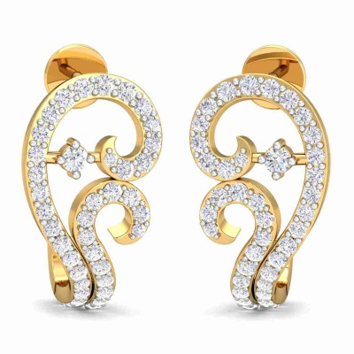 JANETTA DIAMOND STUDS EARRINGS in 18K Gold