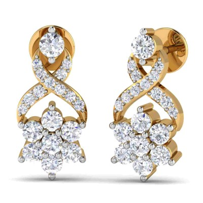WILLIA DIAMOND DROPS EARRINGS in 18K Gold