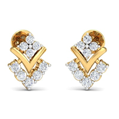 JACQUIE DIAMOND STUDS EARRINGS in 18K Gold