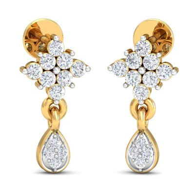 NITA DIAMOND DROPS EARRINGS in 18K Gold