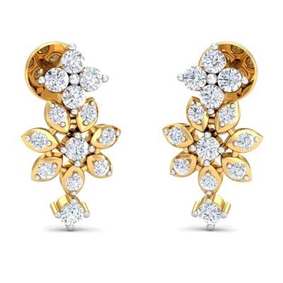LIDA DIAMOND DROPS EARRINGS in 18K Gold