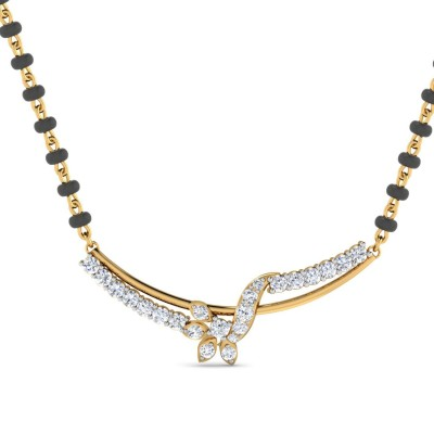 JOLEEN DIAMOND TANMANIYA PENDANT in 18K Gold