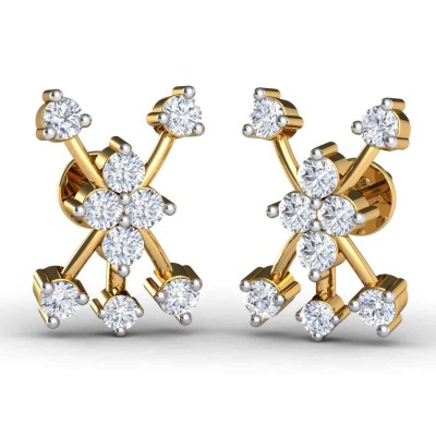 ROSELYN DIAMOND STUDS EARRINGS in 18K Gold