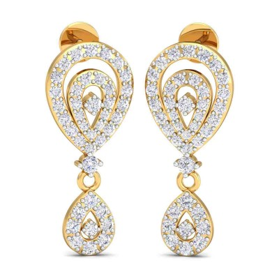 BONITA DIAMOND DROPS EARRINGS in 18K Gold