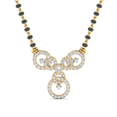 PEARLE DIAMOND TANMANIYA PENDANT in 18K Gold