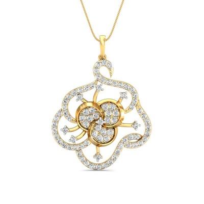 GLENNA DIAMOND FLORAL PENDANT in 18K Gold