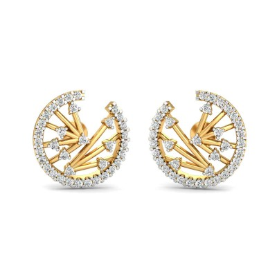 GIDGET DIAMOND STUDS EARRINGS in 18K Gold