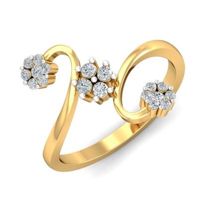 FAWN DIAMOND CASUAL RING in 18K Gold