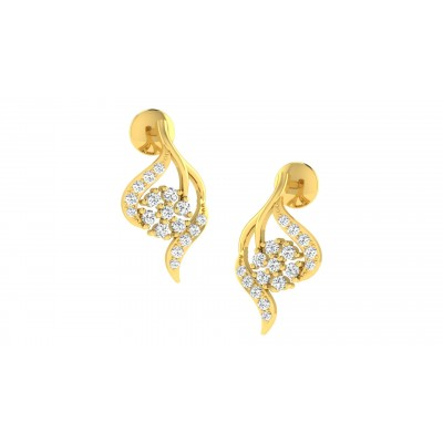 BRIANNE DIAMOND DROPS EARRINGS in 18K Gold