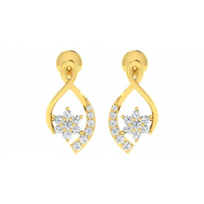 MARILOU DIAMOND DROPS EARRINGS in 18K Gold
