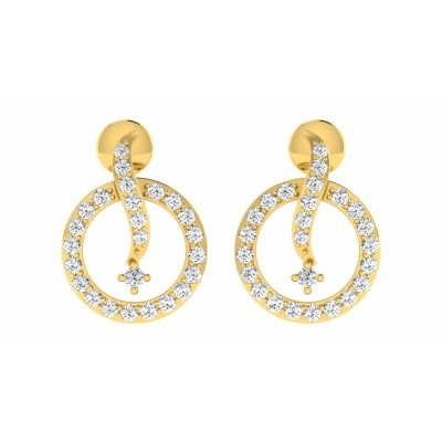 CHERYLL DIAMOND STUDS EARRINGS in 18K Gold