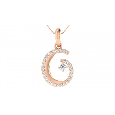 FE DIAMOND FASHION PENDANT in 18K Gold