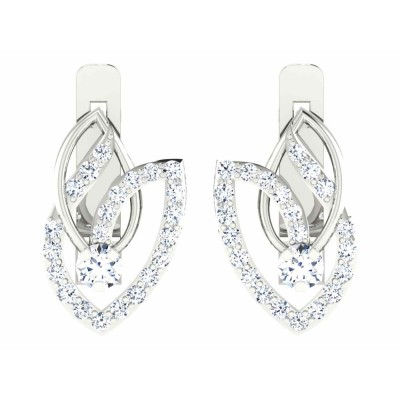 NYDIA DIAMOND HOOPS EARRINGS in 18K Gold