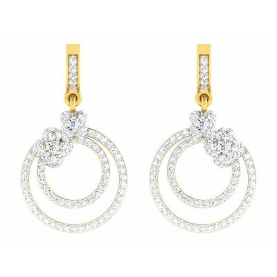 DELILA DIAMOND DROPS EARRINGS in 18K Gold