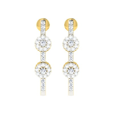 TIARA DIAMOND DROPS EARRINGS in 18K Gold