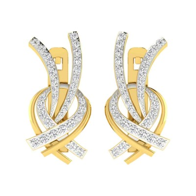 STASIA DIAMOND DROPS EARRINGS in 18K Gold