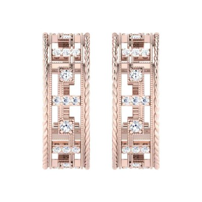 IDELL DIAMOND HOOPS EARRINGS in 18K Gold