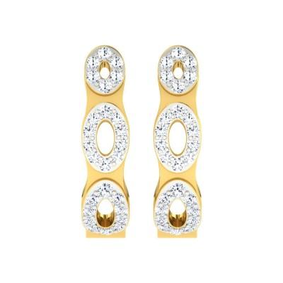 DIONNA DIAMOND HOOPS EARRINGS in 18K Gold