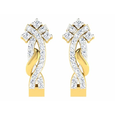 MAYE DIAMOND HOOPS EARRINGS in 18K Gold