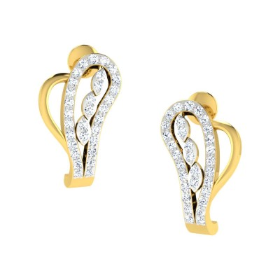 NAKITA DIAMOND HOOPS EARRINGS in 18K Gold