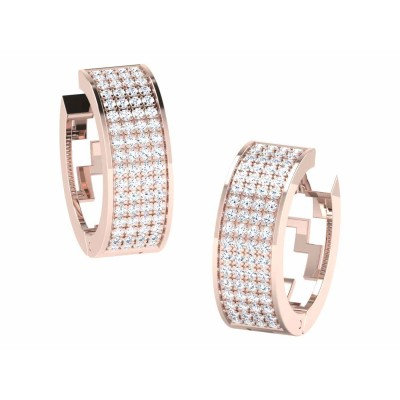 CARRY DIAMOND HOOPS EARRINGS in 18K Gold
