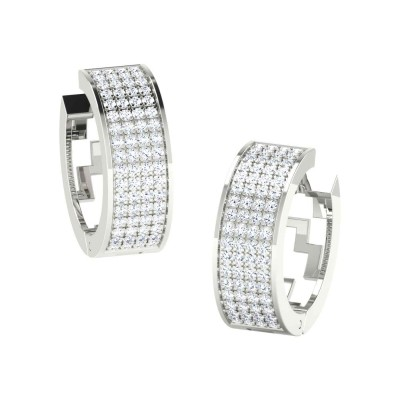 KASANDRA DIAMOND HOOPS EARRINGS in 18K Gold