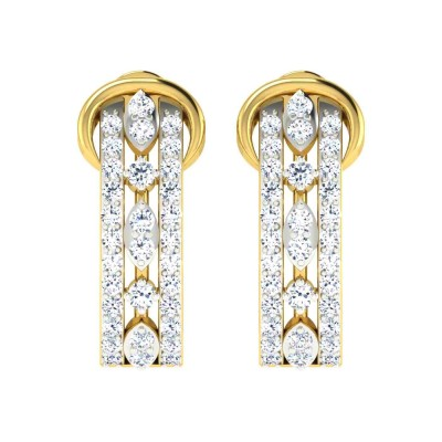 LAVERA DIAMOND HOOPS EARRINGS in 18K Gold