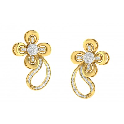 RAQUEL DIAMOND DROPS EARRINGS in 18K Gold