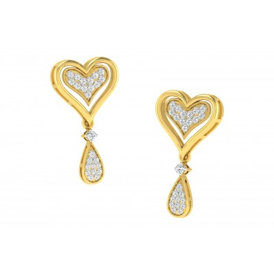 LESSIE DIAMOND DROPS EARRINGS in 18K Gold