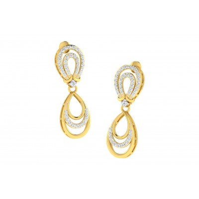 KATHEY DIAMOND DROPS EARRINGS in 18K Gold