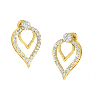 CASSANDRA DIAMOND DROPS EARRINGS in 18K Gold