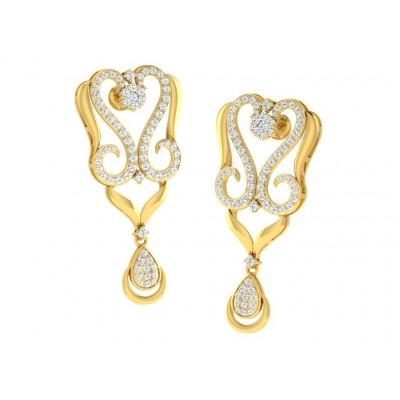 ULRIKE DIAMOND DROPS EARRINGS in 18K Gold
