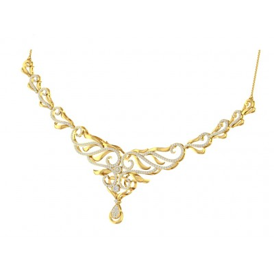 USHA DIAMOND  NECKLACE in 18K Gold