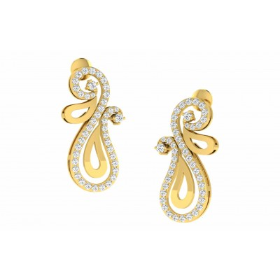 MARCELENE DIAMOND DROPS EARRINGS in 18K Gold