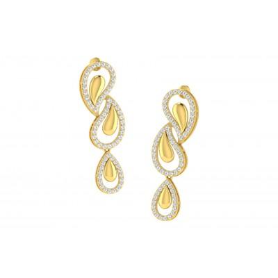 TESSA DIAMOND DROPS EARRINGS in 18K Gold