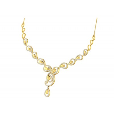 BRITNI DIAMOND  NECKLACE in 18K Gold