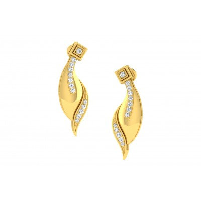MELVA DIAMOND DROPS EARRINGS in 18K Gold