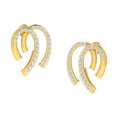 RUTH DIAMOND DROPS EARRINGS in 18K Gold