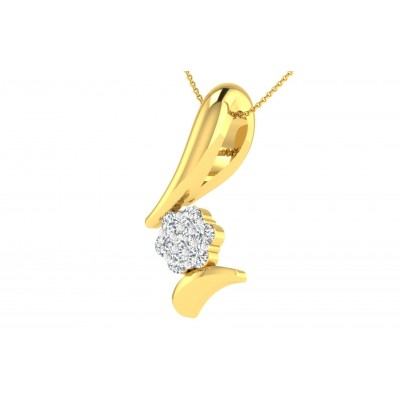 CORLISS DIAMOND FASHION PENDANT in 18K Gold