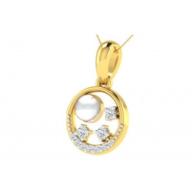 JESUSA DIAMOND FASHION PENDANT in 18K Gold