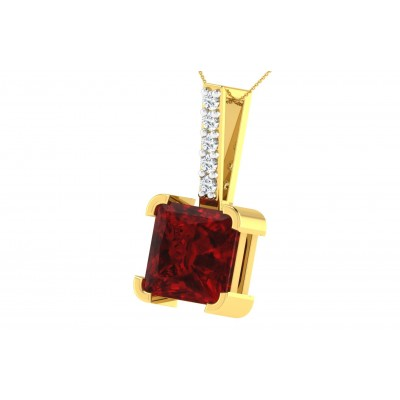 TRINH DIAMOND FASHION PENDANT in Ruby & 18K Gold