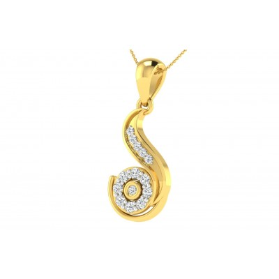 SHARON DIAMOND FASHION PENDANT in 18K Gold