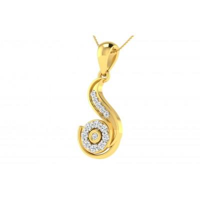 SHARON DIAMOND FASHION PENDANT in 18K Gold