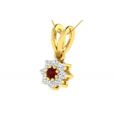 DAPHNE DIAMOND FASHION PENDANT in Ruby & 18K Gold
