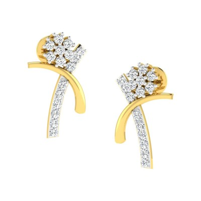 AMALIA DIAMOND STUDS EARRINGS in 18K Gold