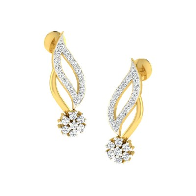 KATHYRN DIAMOND DROPS EARRINGS in 18K Gold